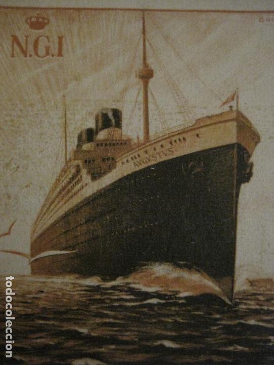 Postales: AUGUSTUS-VIAJE INAUGURAL 11 NOVIEMBRE 1927-BARCELONA SUDAMERICA-POSTAL ANTIGUA PUBLICITARIA-(54.824) - Foto 2 - 142612734