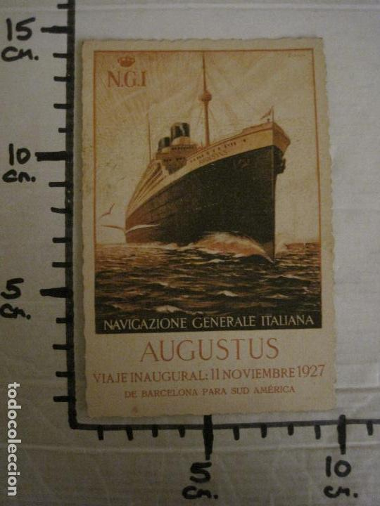 Postales: AUGUSTUS-VIAJE INAUGURAL 11 NOVIEMBRE 1927-BARCELONA SUDAMERICA-POSTAL ANTIGUA PUBLICITARIA-(54.824) - Foto 5 - 142612734