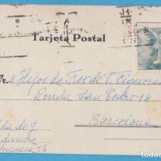 Postales: TARJETA POSTAL COMERCIAL. HIJOS DE FRANCISCO FIGUERAS. VIUDA DE VIDAURRE. BARCELONA, 1952. Lote 143245510