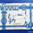 Postales: TARJETA PUBLICIDAD. CIRCO ARTISTAS, ESPECTACULOS EQUILIBRISTAS LOS MORGADOS. Lote 144647598
