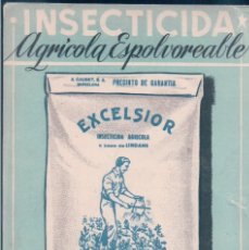 Postales: POSTAL PUBLICIDAD INSECTICIDA AGRICOLA ESPOLVOREABLE EXCELSIOR A BASE DE LINDANE. Lote 144667362
