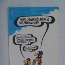 Postales: POSTAL PUBLICITARIA LOTERIA NACIONAL DIBUJO HUMORISTICO DE FORGES . 1974. Lote 145099946