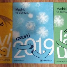 Postales: POSTALES PUBLICITARIAS MADRID TE ABRAZA 2019. Lote 145933054