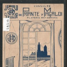 Postales: PRIANTE Y MAGALDI - GIRONA - RADIO Y CALEFACCIÓN - P28210. Lote 146459934