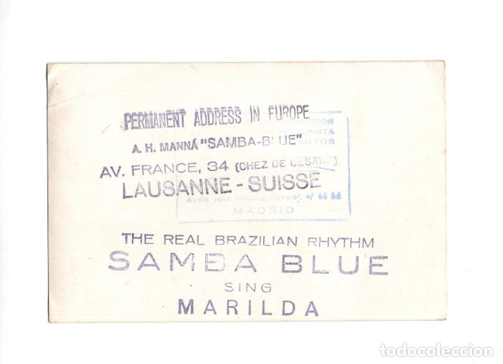 Postales: MADRID.- POSTAL PUBICIDAD SAMBA BLUE. CON DEDICATORIA DE MARIBEL. EN MADRID 1968 - Foto 2 - 146784142