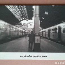 Postales: POSTAL FOTOGRAFÍA ESTACIÓN DE TREN. LUIS FERNÁNDEZ SEOANE. MCM MEDIA POST. 1995. NO CIRCULADA.. Lote 146788630