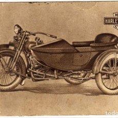 Postales: PRECIOSA POSTAL DE MOTO HARLEY DAVIDSON. Lote 147711722
