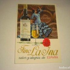 Postales: FINO LA INA. BODEGAS PEDRO DOMECQ, JEREZ DE LA FRONTERA.. Lote 147926206