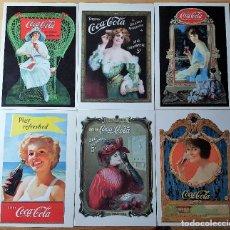 Postales: LOTE DE 10 POSTALES DE PUBLICIDAD DE COCA COLA CON SELLOS MUY BONITOS - VER FOTOS. Lote 147950430