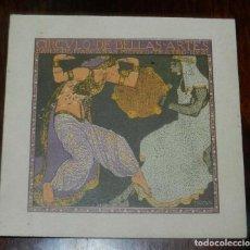 Postales: PROGRAMA TEATRO REAL 1912, GRAN BAILE DE MASCARAS, CARNAVAL, ILUSTRADO POR PENAGOS, DIPTICO DE CARTU. Lote 147979882