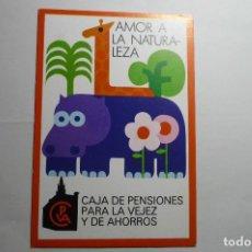 Postales: POSTAL AMOR A LA NATURALEZA - EDIC.CAJA PENSIONES VEJEZ Y AH.. Lote 148922126