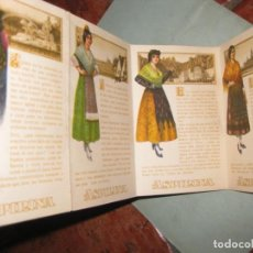 Postales: LIBRITO DESPLEGABLE 4 POSTAL PUBLICIDAD ASPIRINA BAYER . AÑOS 20 ? . TRAJES TIPICOS. Lote 149817222