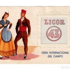 Postales: POSTAL PUBLICIDAD LICOR 43 FERIA INTERNACIONAL DEL CAMPO. REVERSO CON MÁS PUBLI. Lote 150544010