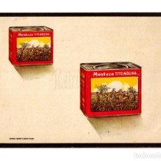 Postales: PUBLICIDAD MOSTAZA TITO MOLINA. ALCALÁ DE HENARES MADRID 1943. Lote 150546598