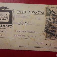 Postales: LUGO CINE ESPAÑA CENSURA MILITAR 1939. Lote 150805730