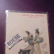 Postales: ANTIGUA POSTAL , PALAIS DU COSTUME , PROJET FELIX - SUR LA GLACE EN 1800 - REVERSO SIN DIVIDIR IMP. . Lote 151069258
