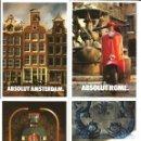 Postales: LOTE 20 POSTALES ABSOLUT VODKA - CIUDADES DE EUROPA (VER FOTOS). Lote 151375902