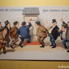 Postales: POSTAL PUBLICITARIA - AGUAS DE CESTONA - ¡ QUE TENEMOS PRISA ! - SIN CIRCULAR -. Lote 151460994