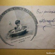 Postales: POSTAL PUBLICITARIA - UN PEQUEÑO CONSUMIDOR DE HARINA DE NESTLÉ - SERIE H VEVEY Nº 13. Lote 151461570