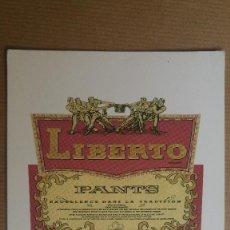 Postales: POSTAL PUBLICIDAD BUENOS LIBERTO, JEANS. Lote 152171914
