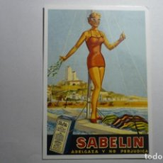 Postales: POSTAL PUBLICIDAD SABELIN . Lote 152844102