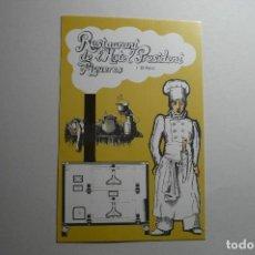 Postales: POSTAL RESTAURANT L´HOTEL PRESIDENT -FIGUERES. Lote 152976994