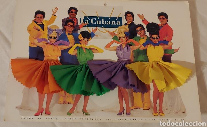 Postales: gran postal con peana grupo teatral La Cubana - Foto 4 - 153389014