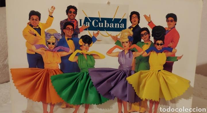 GRAN POSTAL CON PEANA GRUPO TEATRAL LA CUBANA (Postales - Postales Temáticas - Publicitarias)