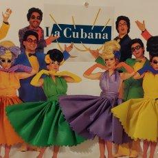 Postales: GRAN POSTAL CON PEANA GRUPO TEATRAL LA CUBANA. Lote 153389014