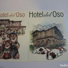 Postcards - 2 PRECIOSAS POSTALES PUBLICIDAD HOTEL EL OSO - ASTURIAS - 154204354