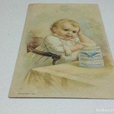 Postales: POSTAL PUBLICITARIA LECHE CONDENSADA EAGLE - MARCA EL AGUILA -POSTAL AMERICANA . Lote 154388274