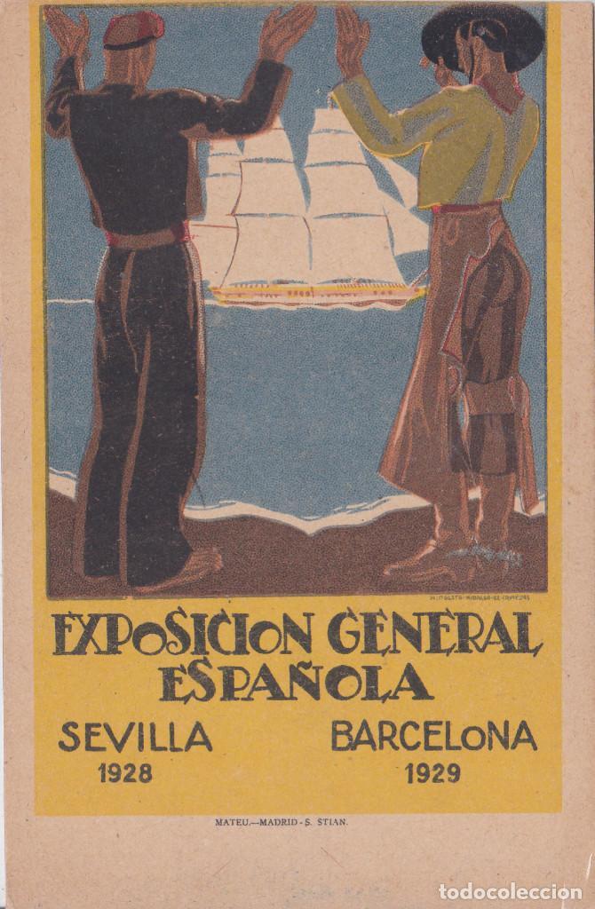 EXPOSICION GENERAL ESPAÑOLA DE SEVILLA Y BARCELONA (Postales - Postales Temáticas - Publicitarias)