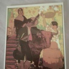 Postales: -74337 POSTAL CARTEL FERIA DE SEVILLA Y SEMANA SANTA, AÑO 1928, AUTOR FCO. HOHENLEITER, REPRODUCCIÓN. Lote 154702002