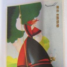 Postais: ANTIGUA POSTAL CON PUBLICIDAD DE FÓSFORO FERRERO- TRAJE TIPICO - GALICIA SERIE 3 Nº 2 - NUEVA.. Lote 155172474