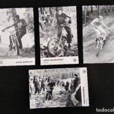 Postales: LOTE 4 POSTALES TRIAL MOTOS MONTESA AÑOS 70. Lote 155563838