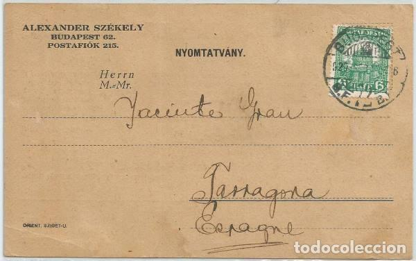 POSTAL ANTIGUA AÑOS 20 FILATELIA INTERCAMBIO SELLOS HUNGARIA ALEX SZEKELY PINTOR PAINTER (Postales - Postales Temáticas - Publicitarias)