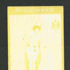 Postales: RIDGWAYS-TEA-POSTAL PUBLICITARIA ANTIGUA DE TE-(57.832). Lote 155968986