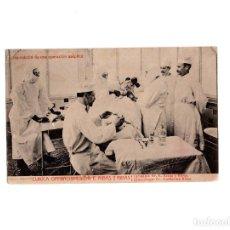 Postales: DISPOSICIÓN DE UNA OPERACIÓN ASÉPTICA - CLINICA DE OPERACIONES DR.E.RIBAS Y RIBAS. Lote 155997878