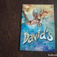 Postales: POSTAL DE PUBLICIDAD PIZZERIA RESTAURANTE DAVID'S, SAN ANTONIO. IBIZA. POSTALFREE.. Lote 156650250