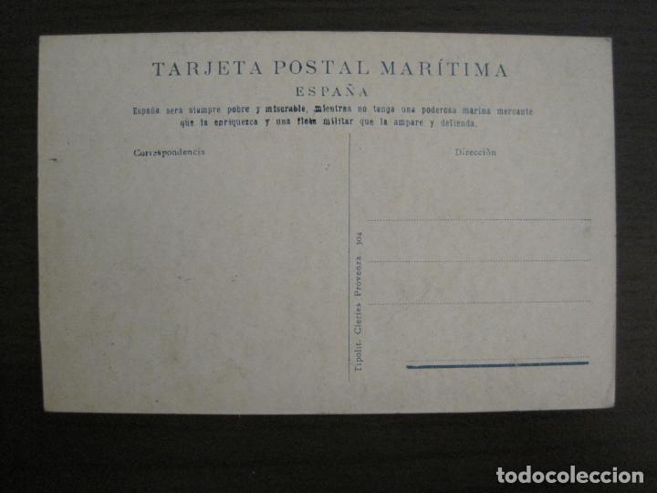 Postales: BUQUES ESCUELAS ASILOS-BARCELONA-POSTAL MARITIMA PUBLICITARIA-VER FOTOS-(57.943) - Foto 2 - 156900550