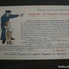 Postales: BUQUES ESCUELAS ASILOS-BARCELONA-POSTAL MARITIMA PUBLICITARIA-VER FOTOS-(57.943). Lote 156900550