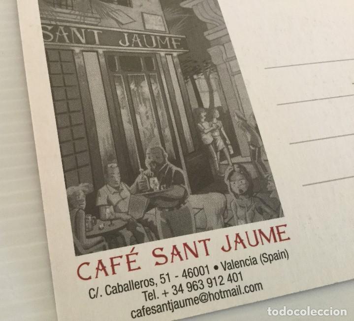 Postales: Postal Café Sant Jaume – Valencia – años 90 - Foto 3 - 157352122