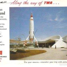 Postales - PUBLICIDAD, TWA, TRANS WOLD AIRLINES, FABULOUS DISNEYLAND, SIN CIRCULAR - 157958510