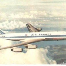 Postales: PUBLICIDAD, AIR FRANCE, BOEING 707 INTERCONTINENTAL, SIN CIRCULAR. Lote 158157358