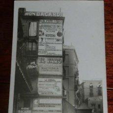 Postales: FOTO POSTAL DE PUBLICIDAD DE RON BACARDI, EL FARO, PRODUCTOS ONYX, LA CONDAL, POSIBLEMENTE EN BARCEL. Lote 159146634
