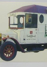 Castellblanch Cava camión antiguo. Postal de 10x15,5 cm