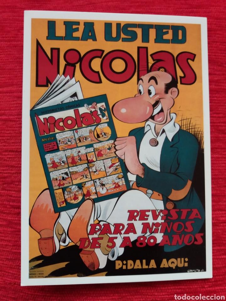 NICOLÁS REVISTA PARA NIÑOS DE 5 A 80 AÑOS (Postales - Postales Temáticas - Publicitarias)