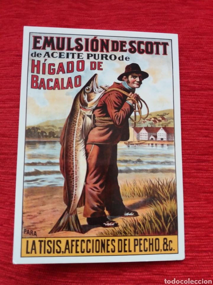 EMULSIÓN DE SCOTT ACEITE HÍGADO DE BACALAO (Postales - Postales Temáticas - Publicitarias)