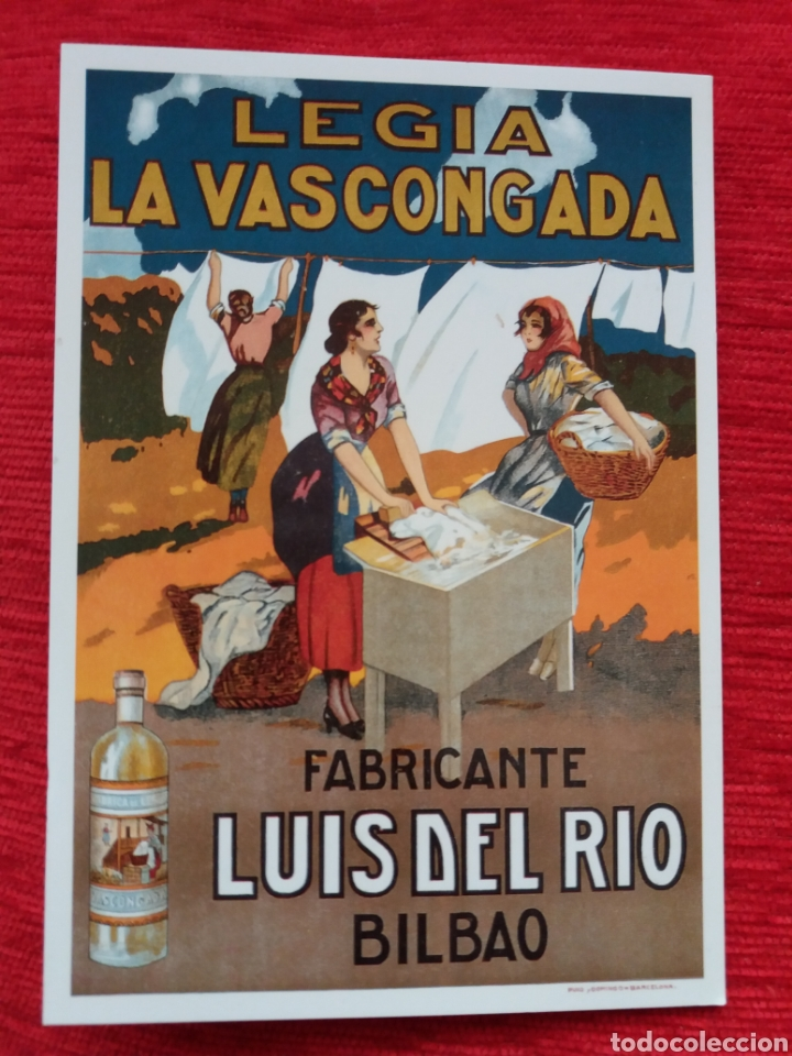 LEJÍA LA VASCONGADA LUIS DEL RÍO BILBAO (Postales - Postales Temáticas - Publicitarias)