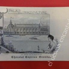 Postales: ANTIGUA POSTAL PUBLICITARIA CHOCOLAT EXPRESS GRONDARD. EXPOSICION PARIS 1900. Lote 160327110